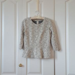 J CREW sweet, crop-sleeved top